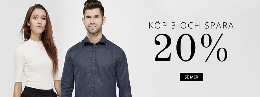 20% Rabatt på Kläder